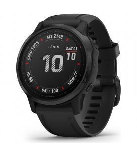 Reloj deportivo con gps garmin fénix 6s pro negro con correa negra - 42mm - pantalla 3.04cm - bt - 10atm - multisport -
