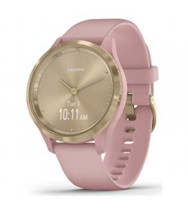 Reloj inteligente con gps garmin vivomove 3s color dorado con correa rosa - 39mm - pantalla táctil - bt - 5atm - multisport -