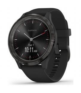 Reloj inteligente con gps garmin vivomove 3 color pizarra con correa negra - 44mm - pantalla táctil - bt - 5atm - multisport -