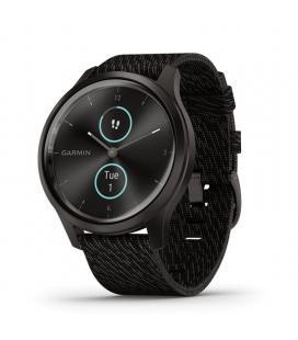 Reloj inteligente con gps garmin vivomove style color grafito con correa negra - 42mm - pantalla táctil - bt - 5atm -