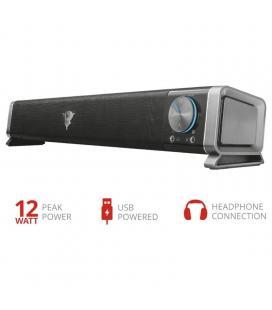 Barra de sonido trust gaming gxt618 asto - 12w (6w rms) - para pc/pantalla tv - alimentación usb - conexión frontal para - Image