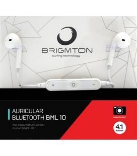 Brigmton Auricular+Mic BML-10-B Bluetooth Blanco