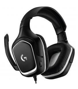 Auriculares con microfono logitech g332 gaming negro - blanco