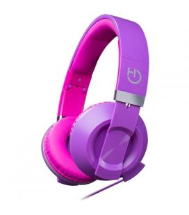 Hiditec Auricular+Mic Cool Kids Púrpura