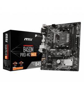 PLACA MSI B450M PRO-M2 MAX AMD AM4 DDR4 HDMI PCIE3.0 M.2 SATA3 USB3.2 MATX