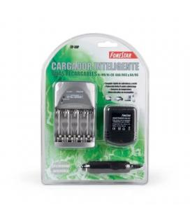 Cargador de pilas recargables fonestar cp-80p - carga 4 pilas simultaneas tipo r03-aaa o r6-aa - indicador carga - Imagen 1