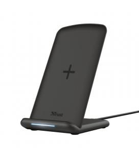 Base de carga inalámbrica trust primo 10 wireless fast-charging stand - entrada 18w max - potencia salida inalámbrica 5/7.5/10w