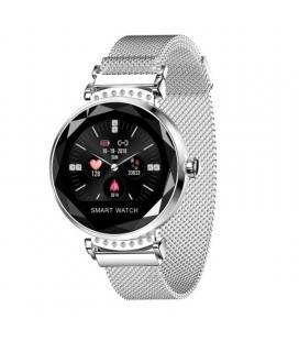 Reloj inteligente innjoo lady crystal silver - registro distancia - ritmo cardiaco - monitorización sueño - waterproof - Imagen