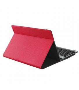 Funda con teclado subblim keytab pro bluetooth red - para tablet de 10.1'/25.65cm - batería 420mah -compatible