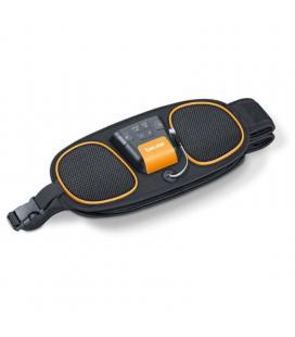 Cinturón electroestimulador abdominal-lumbar beurer em-39 - tecnología ems - 4 electrodos - 5 programas - cinturón flex - 3*aaa