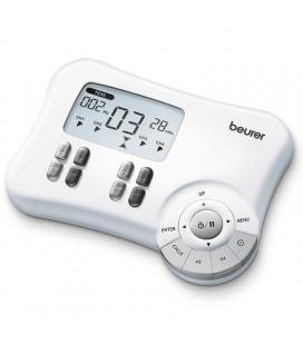 Electroestimulador digital beurer em-80 - tecnología tens/ems/masaje - 8 electrodos - 20 programas - 30 aplicaciones - 3*aa - Im