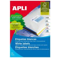 Caja de etiquetas adhesivas - a4 - 52.5 x 21.2mm - cien hojas - apli