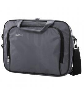 Maletín subblim oxford grey - para portátiles hasta 13.3'-14'/ 33.7-35.5cm - interior acolchado - bolsillo exterior - correa de