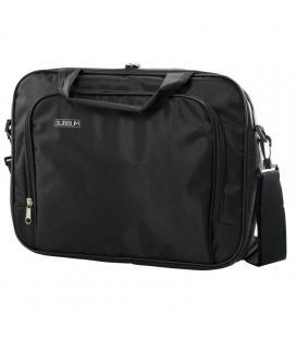 Maletín subblim oxford black - para portátiles hasta 15.4'-16'/39.1-40.64cm - interior acolchado - bolsillo exterior - correa