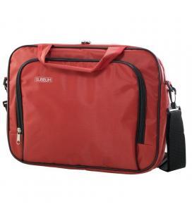 Maletín subblim oxford red - para portátiles hasta 15.4'-16'/39.1-40.64cm - interior acolchado - bolsillo exterior - correa de