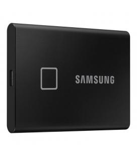 Disco externo samsung portable ssd t7 touch black - 500gb - usb 3.2 - lectura 1050mb/s - escritura 1000mb/s - cifrado hardware