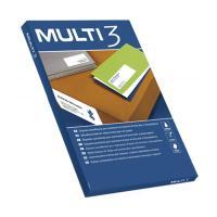 Etiquetas adhesivas - multi3 - 52.5 x 21.2mm - cien hojas - apli