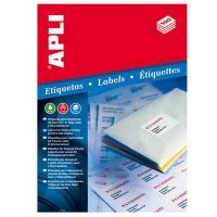 Caja de etiquetas adhesivas - a4 - 70 x 37mm - cien hojas - apli