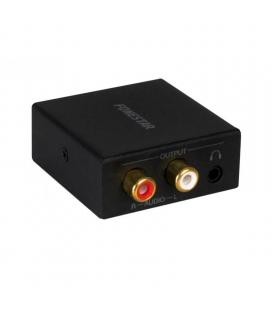 Convertidor de audio fonestar fo-38dah - convierte audio digital en analógico - entrada óptica / coaxial spdif - salida