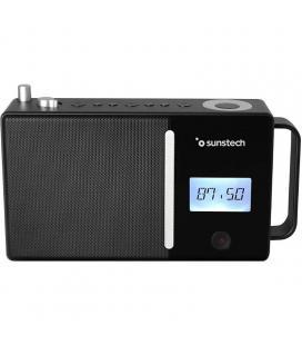 Radio portátil sunstech rpds500 black - fm - bt 5.0 - 30 presintonias - altavoz 4w rms - mp3/wav - aux-in/usb - bat. 1800mah - -