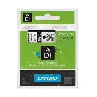 Cinta rotuladora autoadhesiva dymo d1 negro-blanco 9mm x 7 metros para rotuladoras label manager