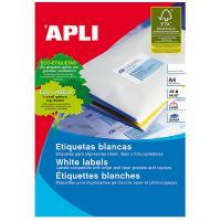 Caja de etiquetas adhesivas - a4 - 70x16.9 mm - cien hojas - apli