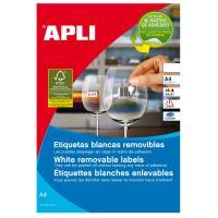 Caja de etiquetas adhesivas - a4 - 48.5mm x 25.4mm - cien hojas - apli