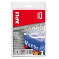 Colgador autoadhesivo de plastico 34x48mm - color transparente - para dotar a sus productos de colgadores y colocarlos en