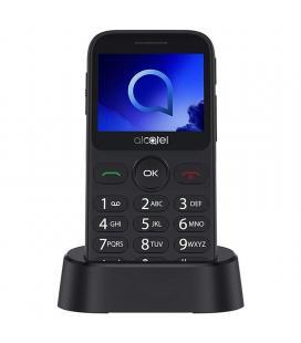 "TELÉFONO MÓVIL ALCATEL METALIC GRAY - 2.4"" QVGA - 16MB ROM - 8MB RAM - MICROSD - BT - BOTÓN SOS - FM - LINTERNA - BAT. 970MAH"