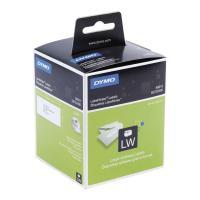 Etiqueta dymo label writer papel para direcciones. 260 x2 rollos blancas de 89x36mm