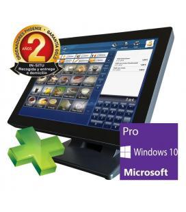 Ordenador phoenix tpv integrado pulsar intel celeron 4 gb ddr3 120 gb ssd pantalla led 15pulgadas tactil windows 10 pro