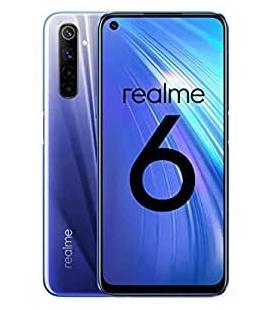 "Realme 6 – Smartphone de 6.5"", 4 GB RAM + 128 GB ROM, Procesador OctaCore, Cuádruple Cámara AI 64MP, Dual Sim, Color Comet Blue"