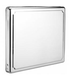 Cubre placas de cocina jocca 6414 - acero inoxidable - apta para cocinas de gas - plateado con acabado liso brillante - Imagen 1