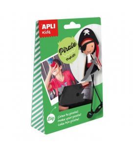 Manualidades apli kids craft kit pirata - incluye todo el material para crear la figura del pack - no incluye adhesivo