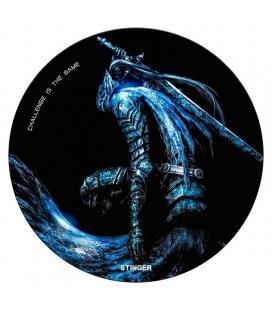 Alfombra gaming woxter stinger floorpad azul - diámetro 120cm - microfibra con base caucho - lavable - Imagen 1