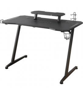 Mesa gaming woxter  stinger gaming desk elite - patas de acero - tablero diseño carbono - gestión cableado+3*usb 3.0 - - Imagen