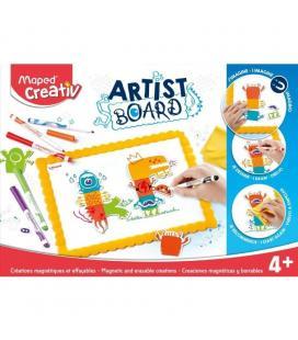 Kit magnético maped artist board - contenido 1 pizarra magnética / 1 paño / 6 rotus borrado en seco y 1 lamina de imanes de