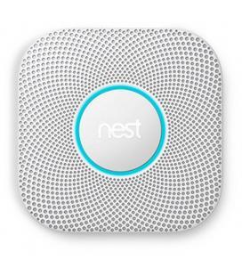 Detector de humo + co2 nest protect -wifi - ajuste automático - 10 años de batería - alarma sonora - notificación a smartphone