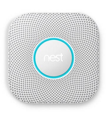 Detector de humo + co2 nest protect -wifi - ajuste automático - 10 años de batería - alarma sonora - notificación a smartphone -
