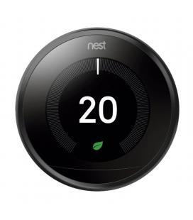 Termostato google nest learning 3ª generación t3029ex negro - 6 sensores - controla donde estés - bat.recargable