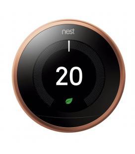 Termostato google nest learning 3ª generación t3031ex cobre - 6 sensores - controla donde estés - bat.recargable