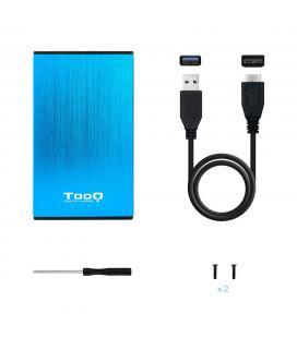 CAJA HDD TOOQ TQE-2527BL 2.5'' SATA USB3.0/3.1 9,5MM GEN1 AZUL