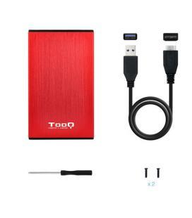 CAJA HDD TOOQ TQE-2527R 2.5'' SATA USB3.0/3.1 9,5MM GEN1 ROJA