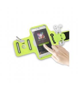 Brazalete deportivo muvit muarm0028 - ultrafino - compatible con smartphones de 4/4.7' (10.16/11.94cm) - color verde lima +