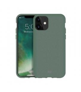 Funda xqisit 36761 palm green para iphone 11 - compatible con carga inalámbrica - ecológica y biodegradable