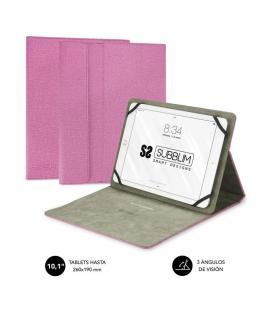 Funda universal subblim clever stand para tablet hasta 10.1'/25.6cm pink - material exterior acabado cloth - interior