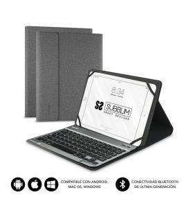 Funda con teclado subblim keytab pro bluetooth grey - para tablet de 10.1'/25.65cm - batería 420mah -compatible