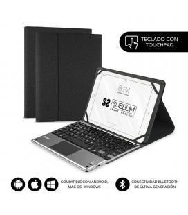 Funda con teclado subblim keytab pro bluetooth touchpad black - para tablet 10.1'/25.6cm - batería 420mah - comp.