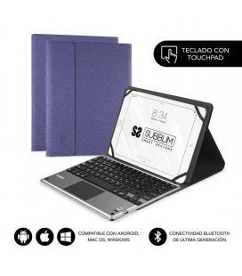 Funda con teclado subblim keytab pro bluetooth touchpad purple - para tablet 10.1'/25.6cm - batería 420mah - comp.