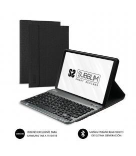 Funda con teclado subblim keytab pro bluetooth black - para samsung gt a t510/515 - batería 420mah - apertura para cámara y